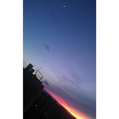 И луна, и закат*-*