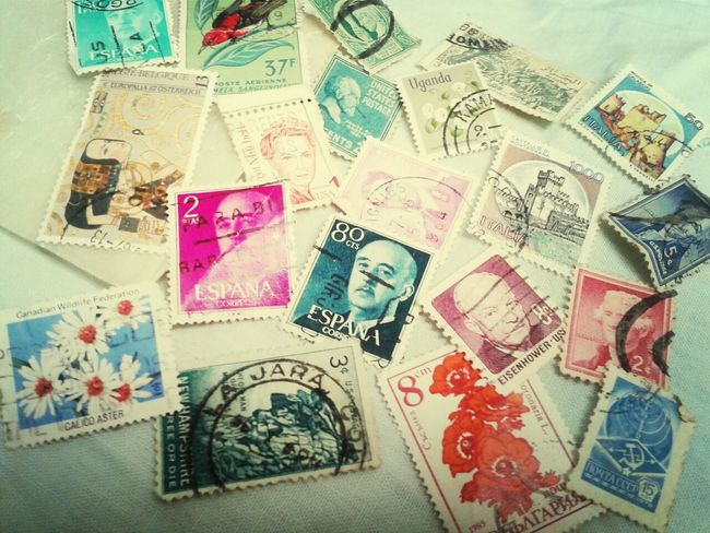 just found this treasure ! ♡♥~ Stamps Collection Colors Snail Mail