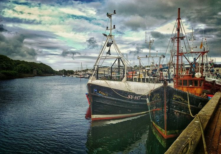 Stornoway Western Isles Isle Of Lewis HTC One M9 Water Hebrides Boats Fishing Boat