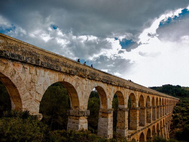 Aqüeducte de les Ferreres - Tarragona - Catalunya Acueducto Acueducto Tarragona Arch Architecture Built Structure Cloud - Sky Day History Low Angle View Nature Old Ruin Outdoors Sky Tarragona