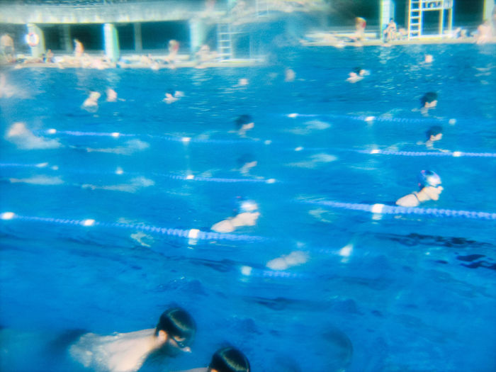 Swimming pool in sea