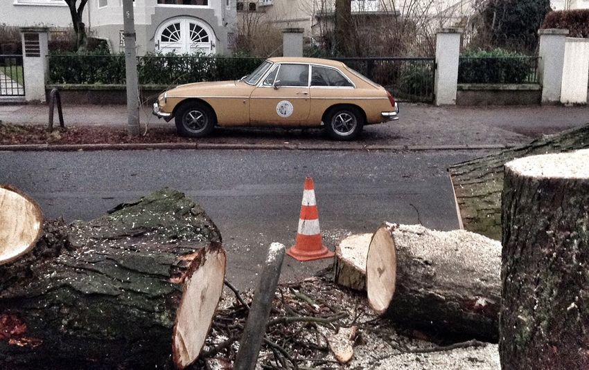 Hamburg Vintage Cars Oldtimer Carspotting Wood Traffic Cone Uhlenhorst