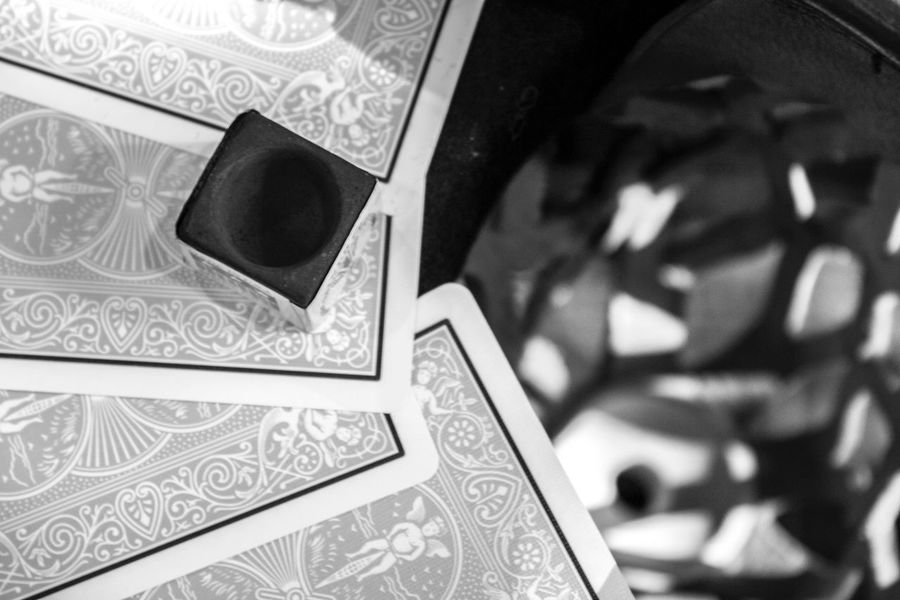Deck Of Cards Playing Hand Card Hand Billiards Pool Table Pool Pocket Black And White Tgif Weekend Boys Night Shallow Depth Of Field Cards Leather Cue Chalk Games Game Night Gambling Feeling Lucky Luck Lucky