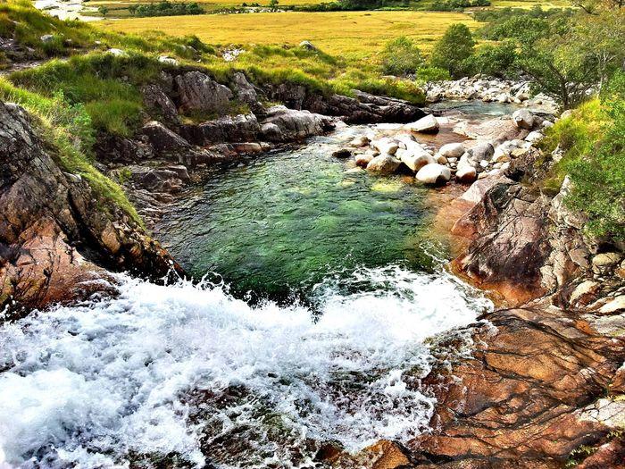 Waterfall Stream White Waters Highlands Splashing