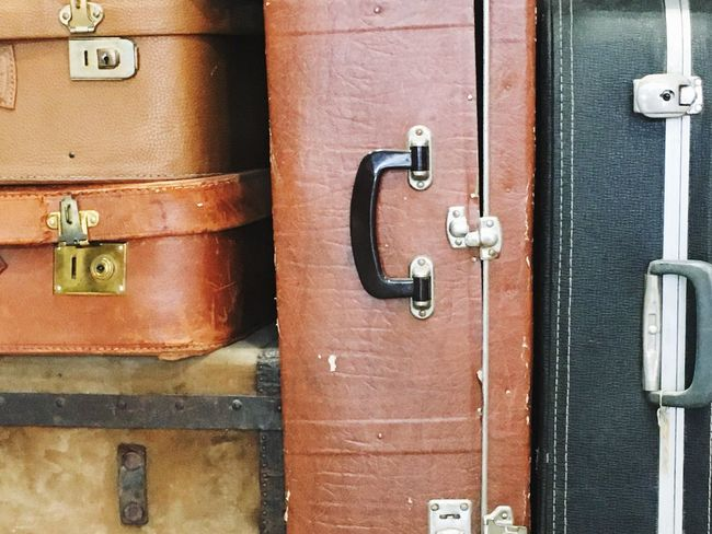 Still Life Vintage Luggage Vintage Fashion Shop OpenEdit Indoors  StillLifePhotography Used Leather Handles Abstract Luggage Tranquil No People Our Best Pics The Week Of Eyeem EyeEm Gallery EyeEm Best Shots Details Apparel Vertical Composition Vertical