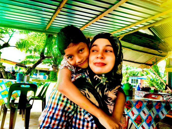 Love you ummi Looking At Camera Portrait Two People Smiling Multi Colored Togetherness