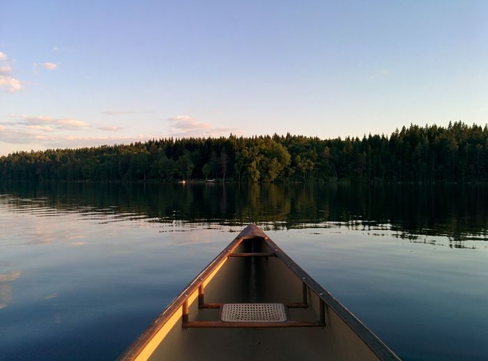 Canoe Canoeing Sweden ❤️ Sweden Nature Sweden Lake Lake Beauty In Nature Wood Nature Sky And Clouds Landscape Sky