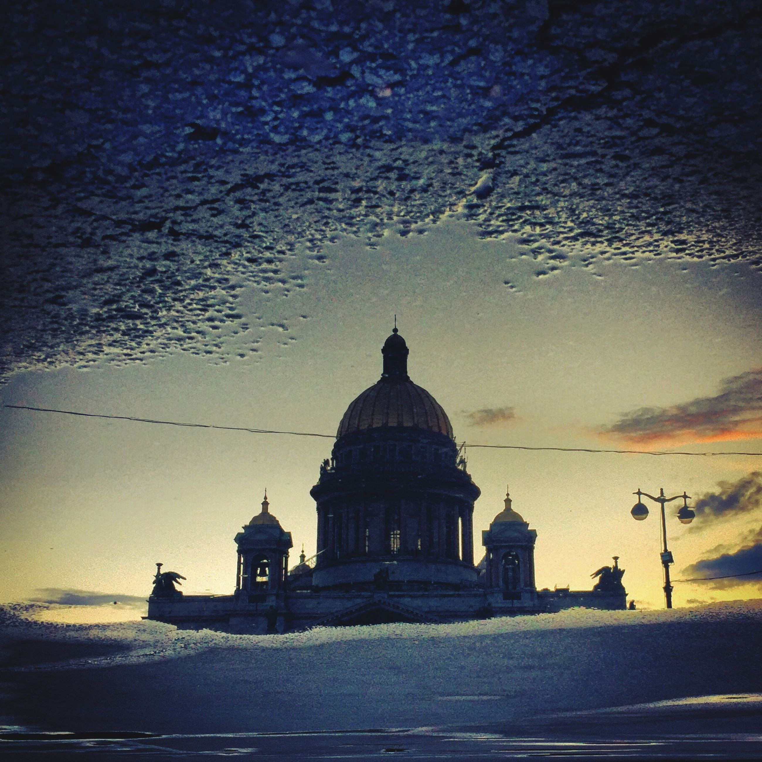 building exterior, architecture, dome, place of worship, built structure, religion, spirituality, church, sky, water, travel destinations, travel, outdoors, famous place, cathedral, statue, tourism, cloud - sky