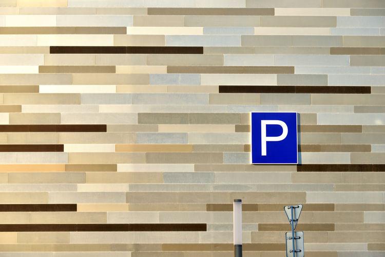 Parking Site Geometry City Urban Façade Wall Exterior Sign Europe Minsk Eastern Europe Belarus BY112_MINSK_AK BY112_BELARUS_AK