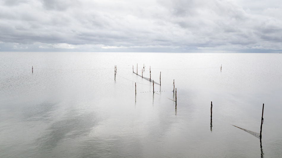 Netherlands Noord-Holland At The Lake Beauty In Nature Cloud - Sky Day Fishery  Holland Horizon Horizon Over Water Ijsselmeer Lake Nature No People Outdoors Scenics - Nature Sea Sky Tranquil Scene Tranquility Water Waterfront Wooden Post