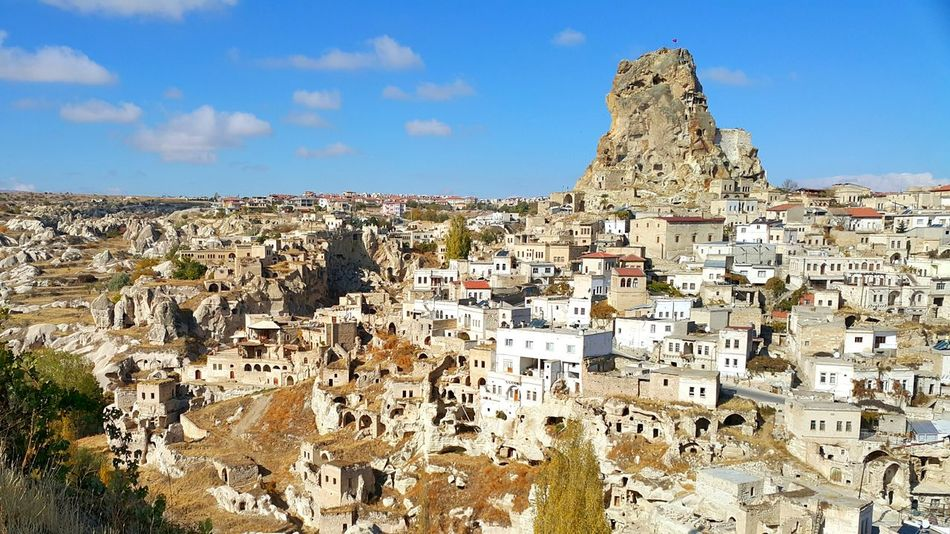 Travel Ancient Architecture History Travel Destinations Outdoors Day Sky Town Cappadociaturkey Cappadocia Kappadokya Kapadokya Cappadocia/Turkey Architecture Building Exterior Ortahisar Business Finance And Industry Cultures Place Of Worship Large Group Of People People