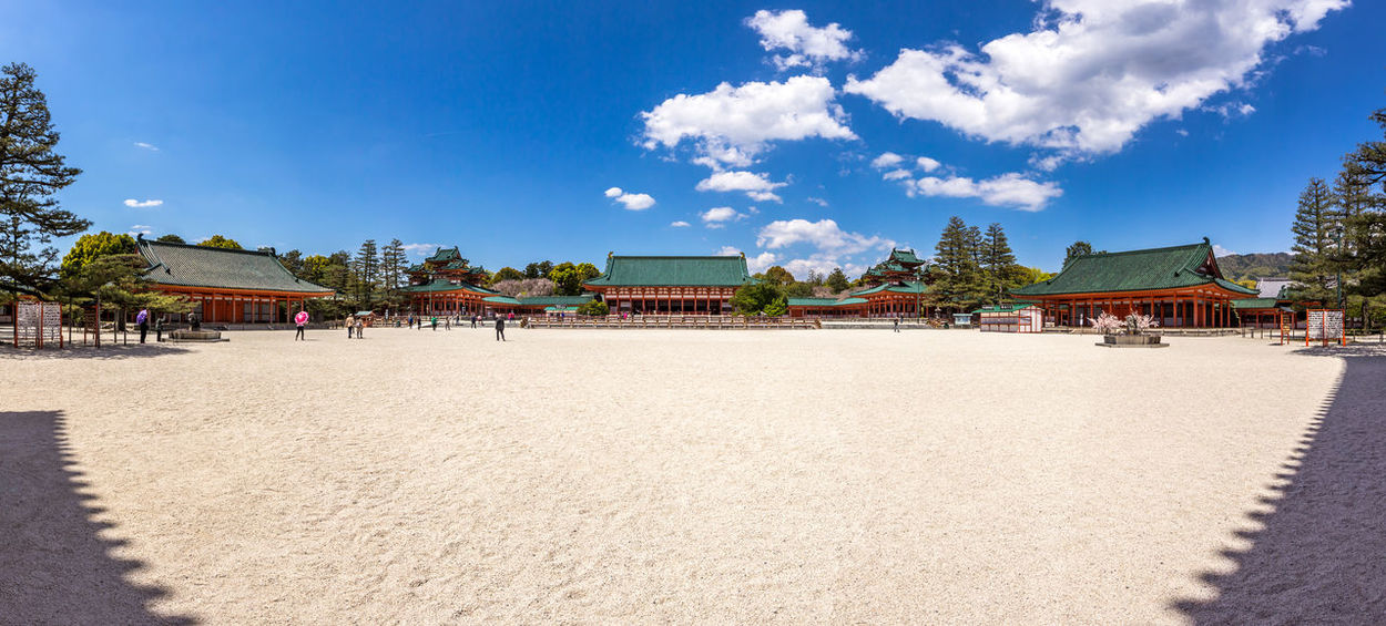 The square at the entrance of Heian Shrine in Tokyo HEIAN Heian Shrine Japan Panorama Sky And Clouds Square Kyoto No People
