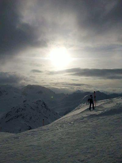 Snowcapped Mountain Switzerlandalps Sun Light