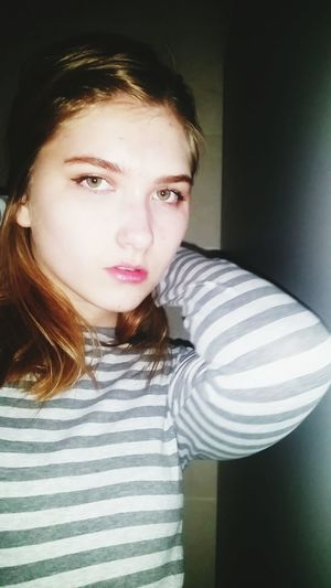 Striped One Person Looking At Camera Portrait Teenager Front View Young Adult