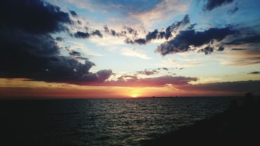 Sunset Ocean Beach Bautiful Summer Sun Sky Enjoying Life