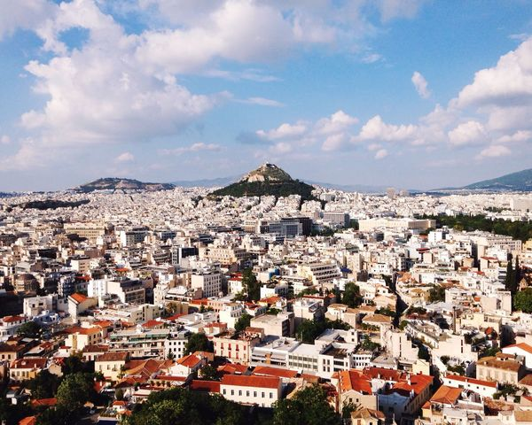 Athens from the Acropolis, quite a view! Open Edit Traveling Landscape Eye4photography  Share Your Adventure Travel Photography Greece City Cityscapes Clouds And Sky