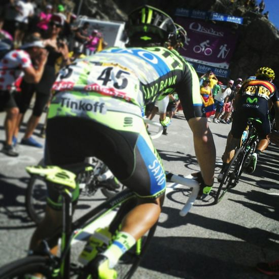 Letourdefrance Letour Letourdefrance2015 Alpedhuez Alpe D'huez Crowd Cheering ♥ Frenchisms Cycling Cyclist Cyclingphoto Cyclists In Landscape