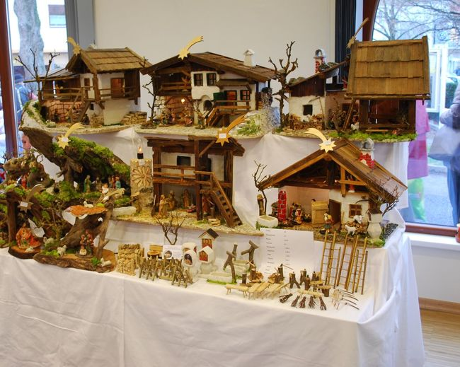 Advent Austrian Culture Christmas Christmas Decoration Crib Made Of Wood Cribs Krippen No People Weihnachten Weihnachtsdekoration Wood - Material