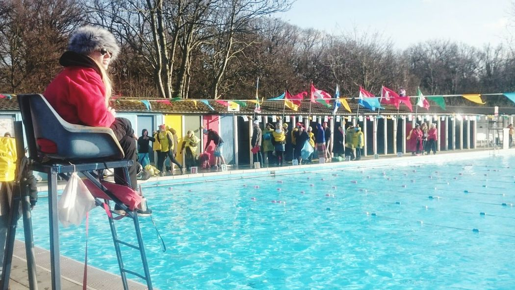 Nice day for a dip. UK cold water swimming