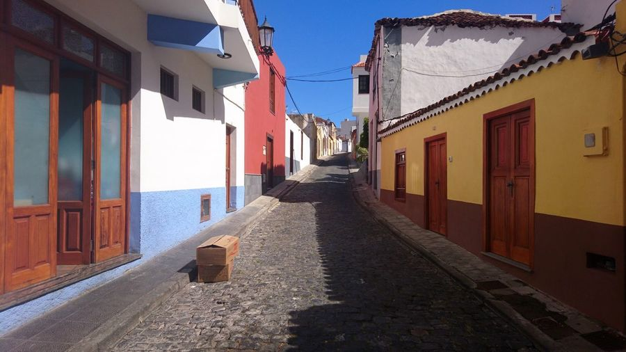 Streets of Garachico. Garachico SPAIN España Canary Islands Islas Canarias Blue Blue Sky Architecture Urban Beauty Historic Residential  Colors Urban Colors Sky Architecture Building Exterior Built Structure