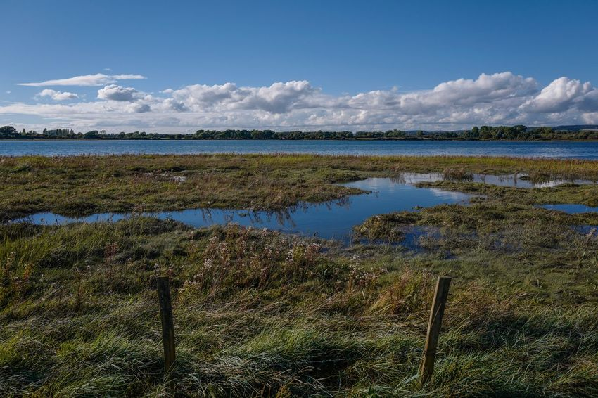 Water Tranquil Scene Tranquility Scenics Sky Beauty In Nature Grass Nature Blue Lake Non-urban Scene Cloud Plant Cloud - Sky Day Wilderness Countryside Tourism Remote No People Chichester Harbour