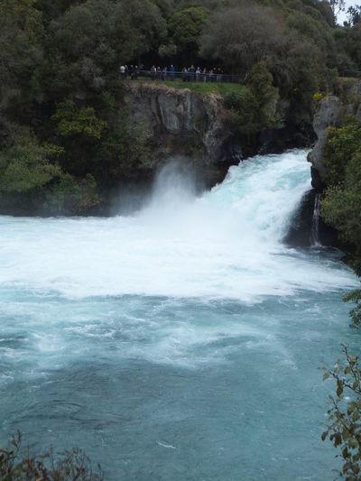 Water Huka Falls New Zealand Waikato River Taupo