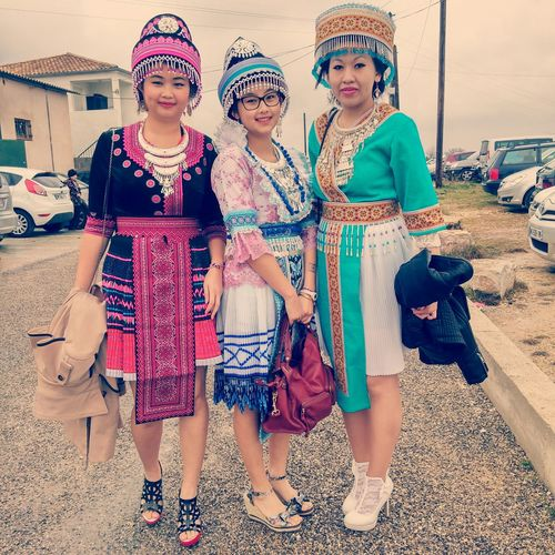 With Hmong traditional costums at the New Year 2015 Hmongclothes Hmong New Year Hmong Girls