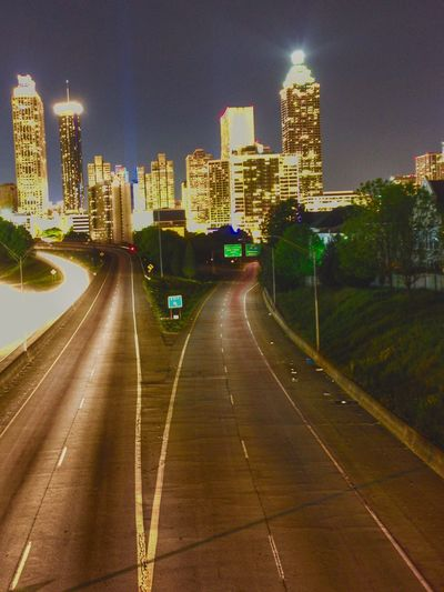 Atlanta Skyline Atlanta Ga Atlanta, GA Light Trails Skyline At Night HUAWEI Photo Award: After Dark