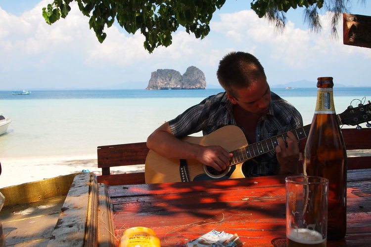 Beach Beerchang Guitar Love Hippielife Outdoors Paradise Thailand Beach Turquoise Water