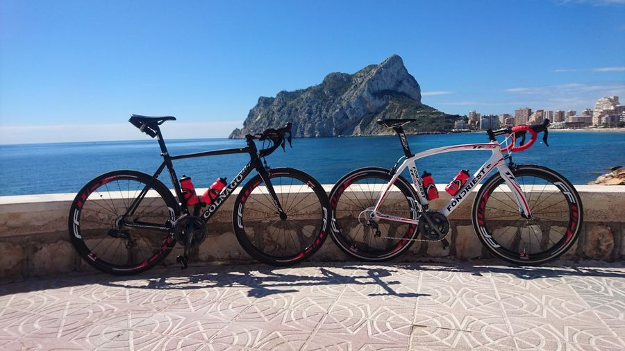Bicycle Beach Sea Water No People Sand Transportation Outdoors Sky Nature Day Horizon Over Water Calp Calpe Spain Transportation Sport Healthy Lifestyle Cycling Adventure Colnago Pedal