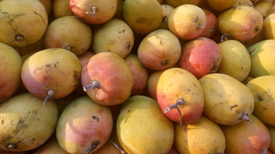 Full frame shot of mangoes for sale