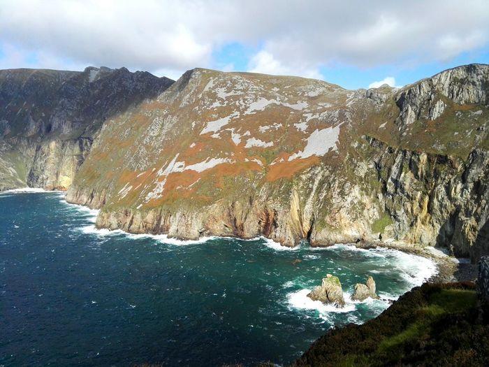 Slieve League Cliffs Donegal,Ireland Water Mountain Wave Snow Sky Landscape Cloud - Sky