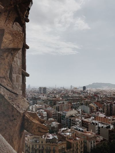Barcelona Building Exterior Architecture Built Structure City Sky Building Cityscape Crowded Nature Outdoors Residential District High Angle View Cloud - Sky Crowd Day House TOWNSCAPE Community City Life Travel Destinations
