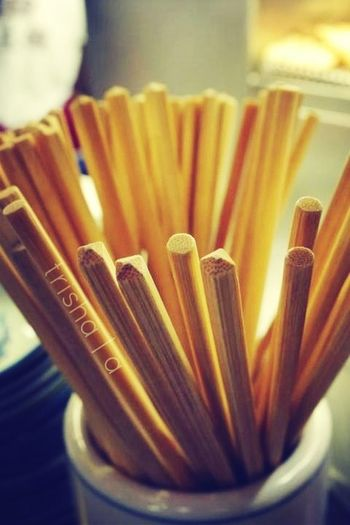 Chopsticks--invented by the genious who picked up food with 2 sticks.