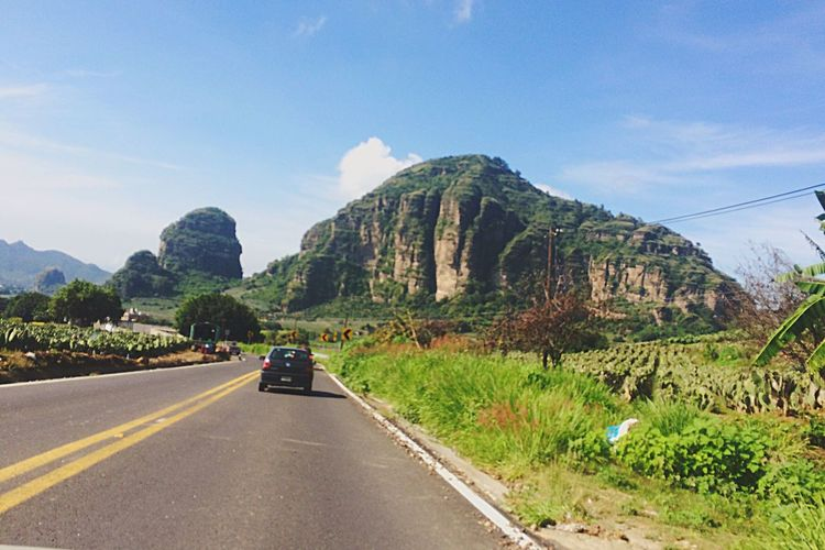 Road Trip   Road Nature The Way Forward Sky Scenics Beauty In Nature Land Vehicle Outdoors Landscape No People Day
