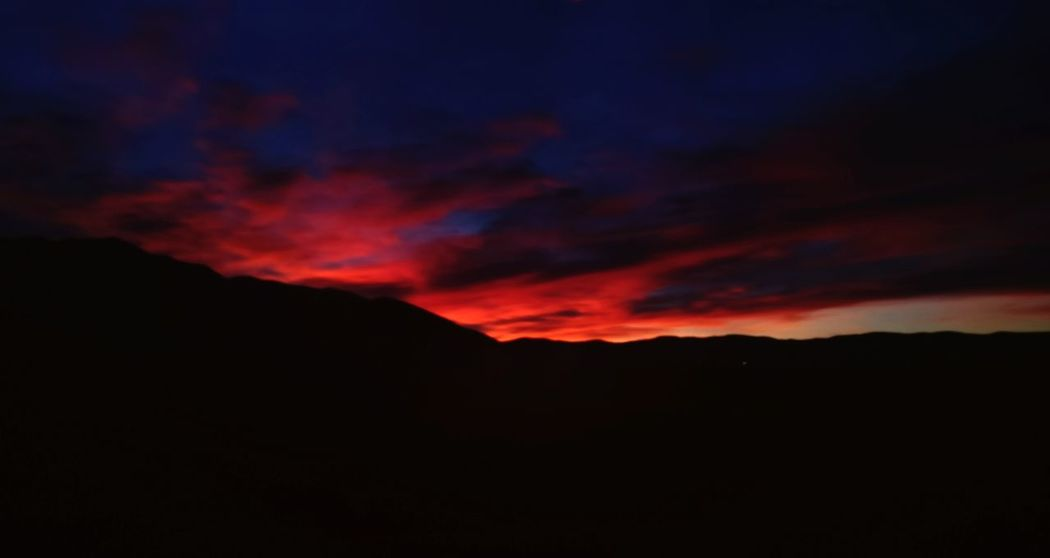 Thanksgiving Sunrise. Dawn Mountain Valley Views Landscape Sky Nature Sunrise Thanksgiving Day Nature Dramatic Sky Scenics Beauty In Nature Outdoors Silhouette No People Tranquility Night Power In Nature
