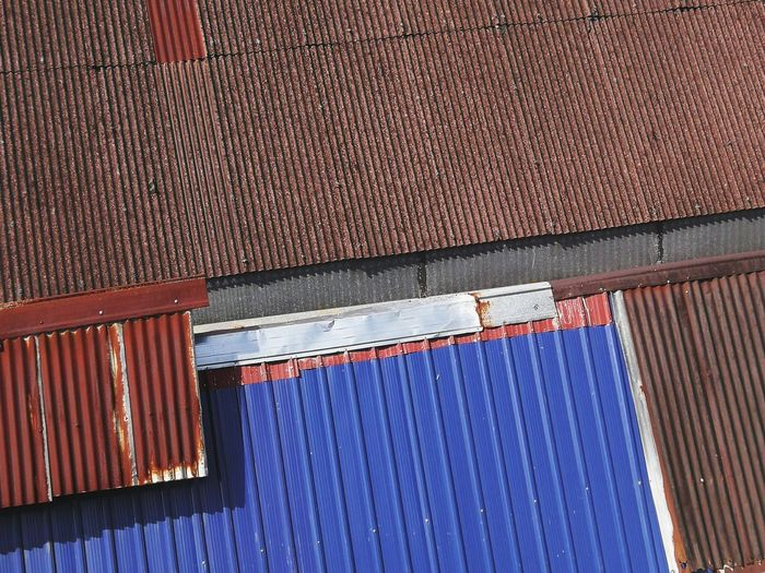Low angle view of building roof