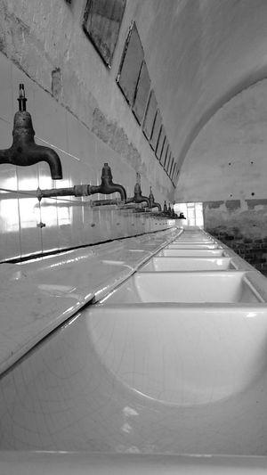 Theresienstadt Terezín ZcechRepublic Indoors  Washing Area History Mirrors Ww2