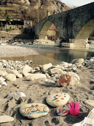 Ancient Civilization Bobbio Culture Day Outdoors Paint Pontegobbo Relaxation Riverside Sand Stone Vacations Valtrebbia Water