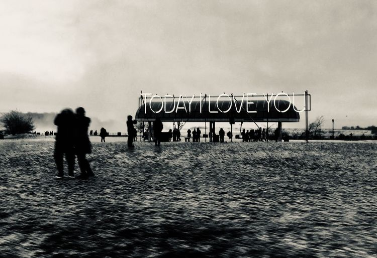 Today I love You! Tomorrow I Love you! And Forever! Sky Men Lifestyles Nature Land 2018 In One Photograph People Leisure Activity Outdoors Walking Standing Full Length The Art Of Street Photography