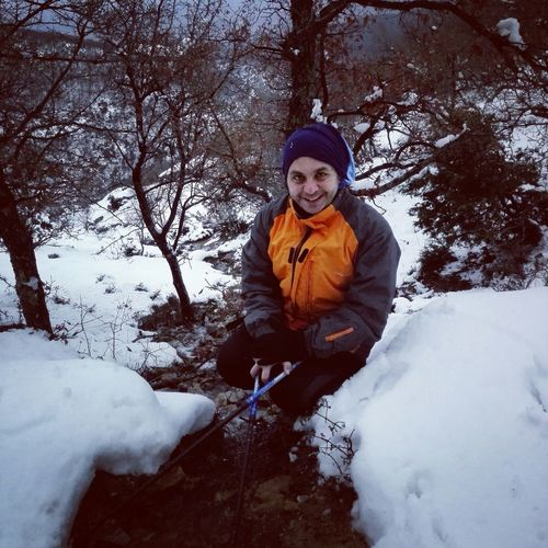 Walking Around Excercising Hugging A Tree Escaping Portrait Mountains Wintertime Enjoying Life Forest Hiking