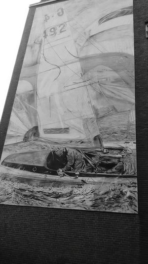 Amazing maritim mural. Bremen Germany No People Maritime Marine Life Mural Paintings Mural Art Urban Art Wall Painting Sailboat