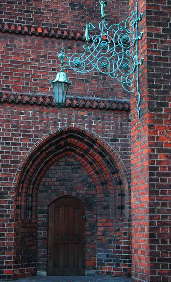 Closed Door Of Historical Building