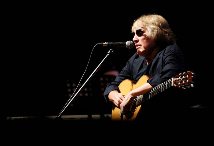 Jose Feliciano Music Musical Instrument Arts Culture And Entertainment Musician Performance Playing Musical Equipment Artist Guitar Microphone One Person Men Input Device Plucking An Instrument String Instrument Guitarist Black Background Adult Indoors  Performing Arts Event