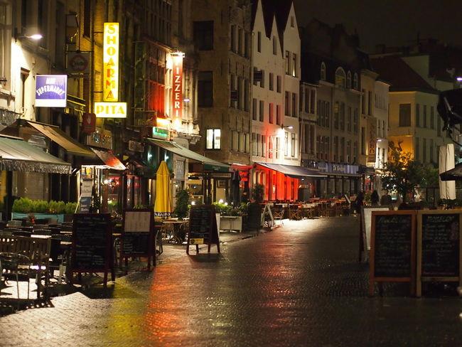 Antwerpen, Belgium City Lights Reflection Architecture Building Exterior Built Structure City Illuminated Night Outdoors