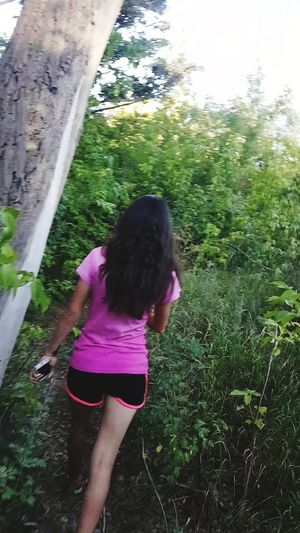 Tree Childhood Child Girls Water Rear View Standing Full Length Casual Clothing
