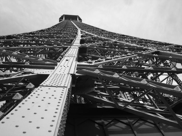 Architecture Black & White Black And White Black And White Photography Built Structure City Day Eiffel Tower Low Angle View No People Noir Et Blanc Noir Et Blanc Photographie Outdoors Sky Tour Eiffel Tour Eiffel Black And White Tour Eiffel Different View Tour Eiffel ♥ Tour Eiffel, Paris. Travel Destinations