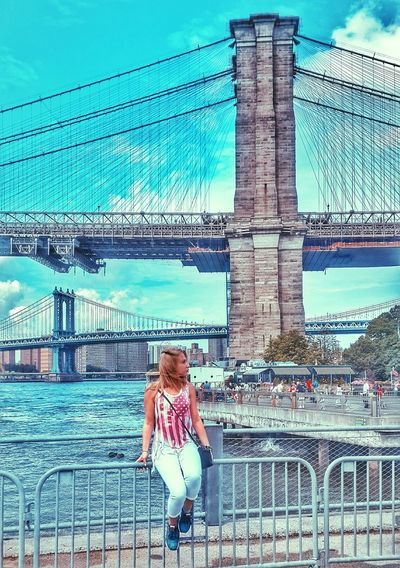 I Heart New York Brooklyn Bridge  New York City Independence Day Relaxing Enjoying Life