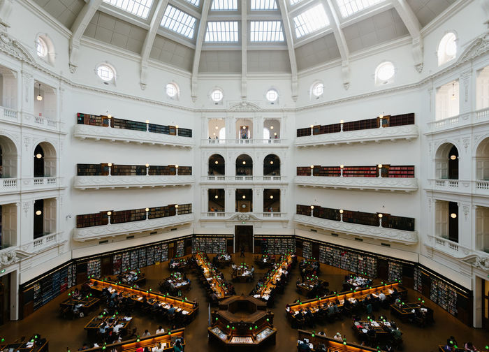 State Libary of Victoria Australia Melbourne City Symetrical Architecture Built Structure Ceiling Illuminated Indoors  Library Melbourne First Eyeem Photo