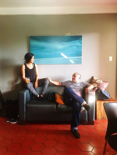 Couple Hanging Out Relaxing In The Mood Sofa The Portraitist - 2016 EyeEm Awards